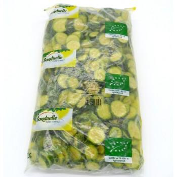 Courgettes Vertes En Rondelle Bio