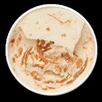 Crème Glacée Cacahuète et Caramel