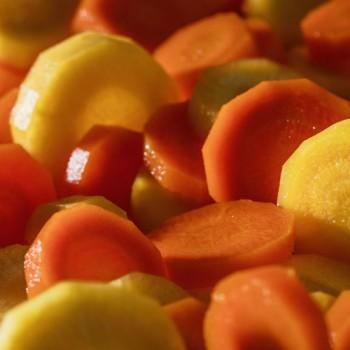 Le Duo Carottes Jaunes et Oranges cuites