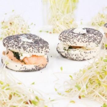 25 Mini-Bagels Saumon 14g