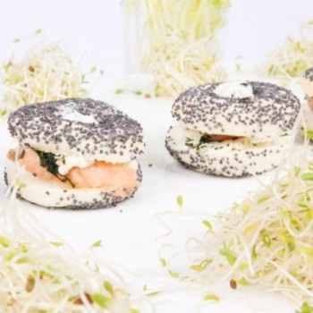 25 Minis Bagels Saumon 14g