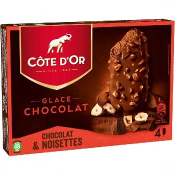 4 Côte d'Or Chocolat Enrobage Chocolat et Noisette