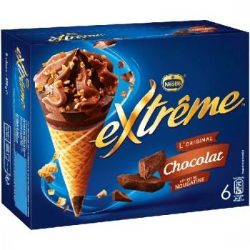 6 Extrême Cônes Chocolat Pépites de Nougatines