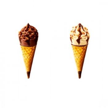 8 Mini Extrême Cônes Panaché Vanille et Chocolat