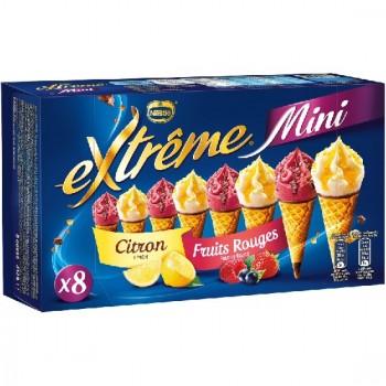8 Mini Extrême Cônes Citron et Fruits Rouges