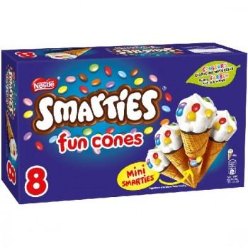 8 Smarties Fun Cônes