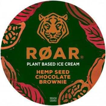 Pot Roar Glace Chocolat Morceaux Brownie Graines de Chanvre