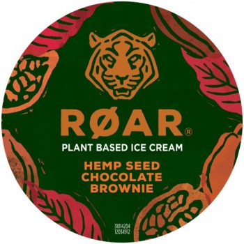 Pot Roar Glace Chocolat Morceaux Brownie Graines de Chanvre