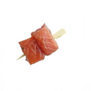 6 Minis Brochettes de Saumon Marinées